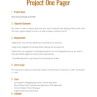 Group 3 Project One Pager