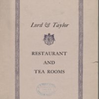 Menu of Lord & Taylor Restaurant and Tea Rooms: October 1914
