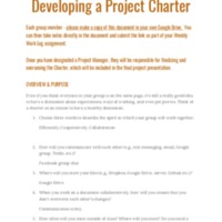 Group Five Project Charter